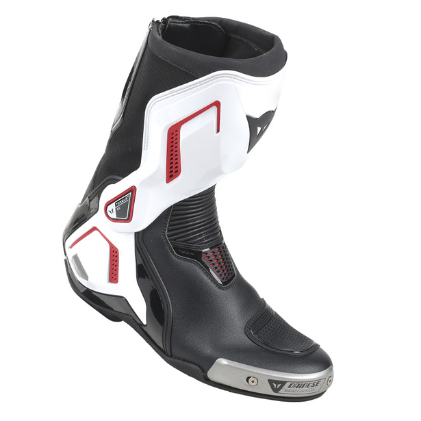 TORQUE D1 OUT BOOTS BLACK/WHITE/LAVA-RED- Leather