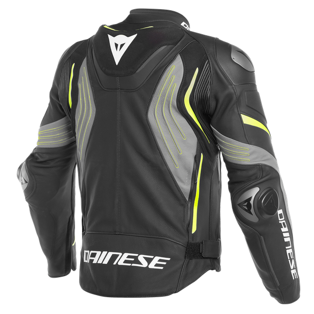 SUPER SPEED 3 LEATHER JACKET BLACK/MATT-GRAY/FLUO-YELLOW- Cuir