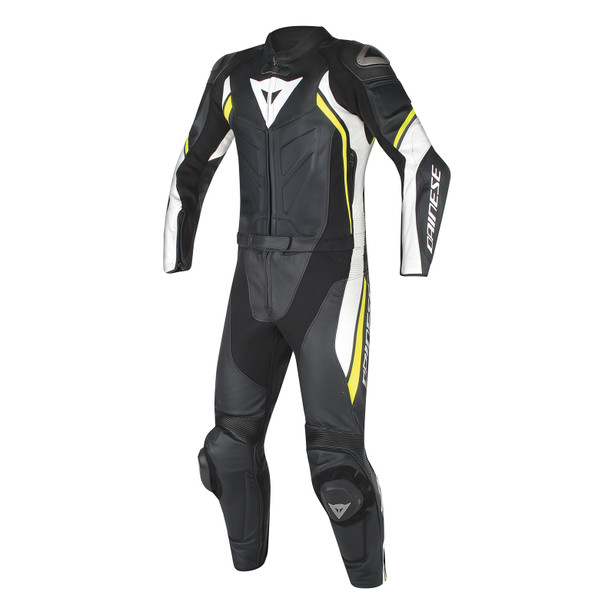 AVRO D2 2PCS SUIT BLACK/WHITE/YELLOW-FLUO