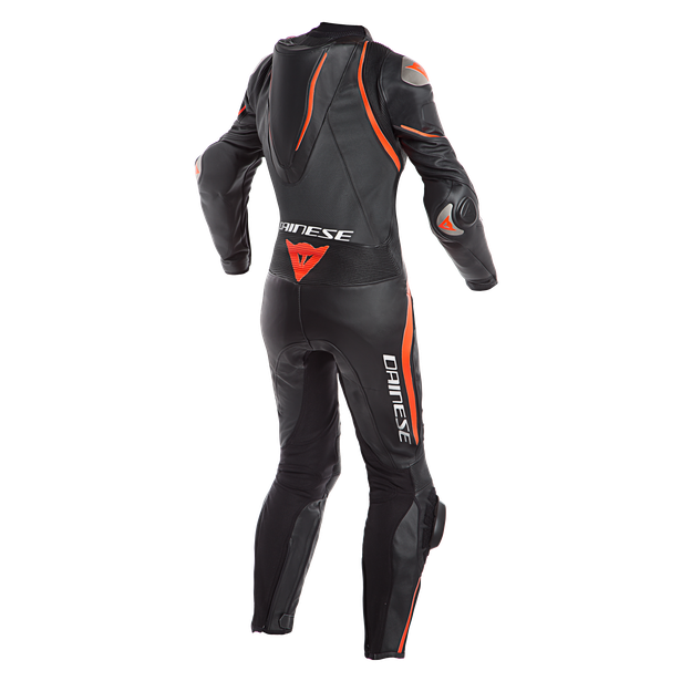 LAGUNA SECA 4 1PC PERF. LADY LEATHER SUIT BLACK/BLACK/FLUO-RED- Profesionales