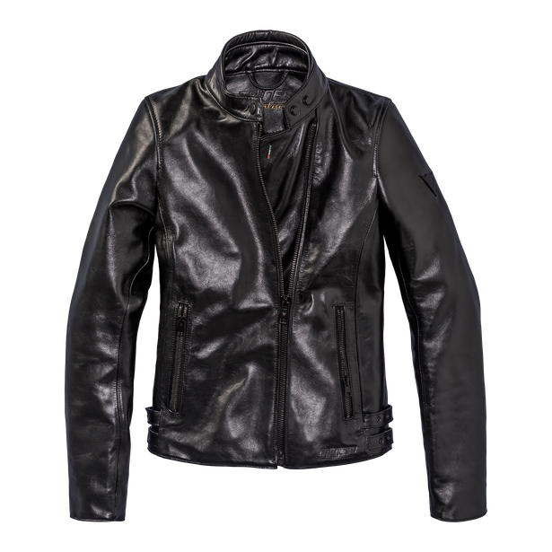 CHIODO72 LADY LEATHER JACKET BLACK
