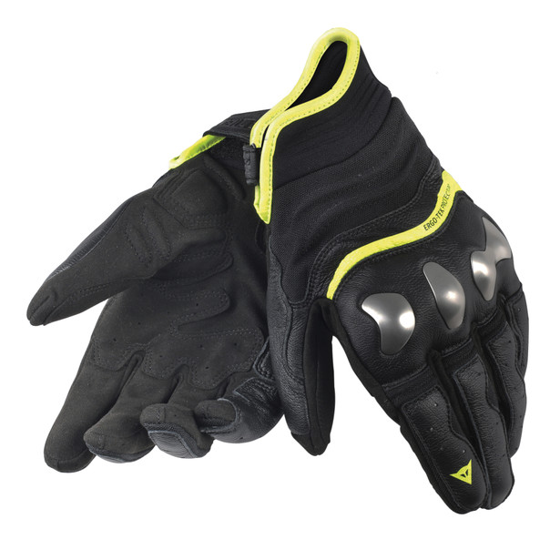 X-RUN GLOVES BLACK/YELLOW-FLUO