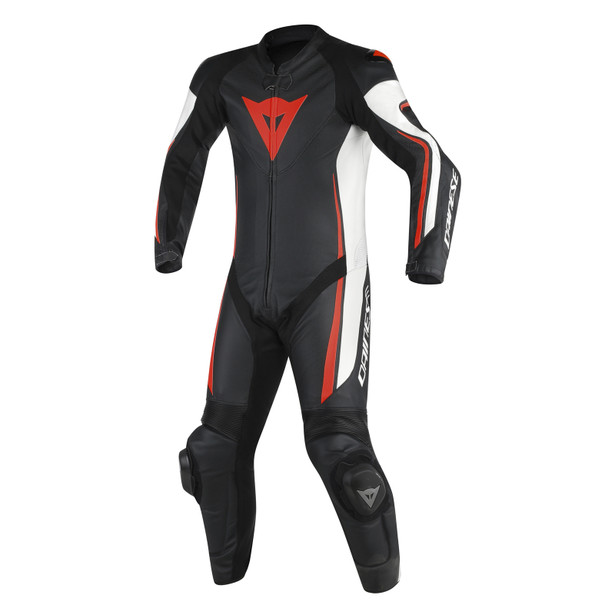 ASSEN 1 PC. PERF. SUIT BLACK/WHITE/RED-FLUO