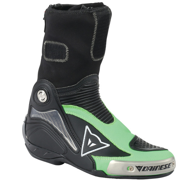 R AXIAL PRO IN BOOTS BLACK/FLUO-GREEN- Leather