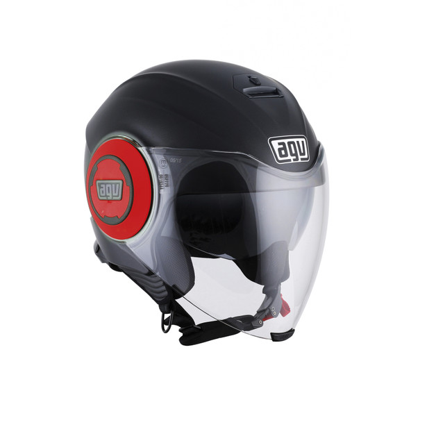 FLUID E2205 MONO - MATT BLACK/RED