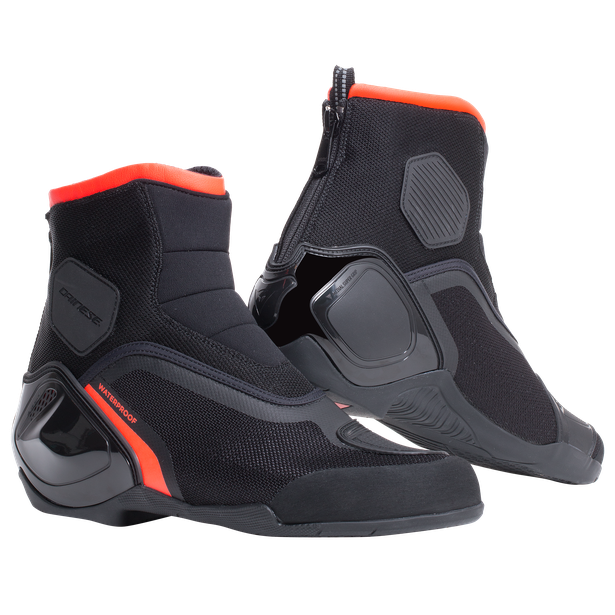 DINAMICA D-WP SHOES BLACK/FLUO-RED- Motorbike