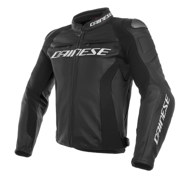 RACING 3 PERF. S/T LEATHER JACKET BLACK/BLACK/BLACK- Leather