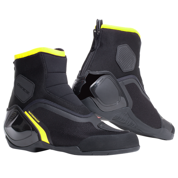 DINAMICA D-WP SHOES BLACK/FLUO-YELLOW- Motorrad