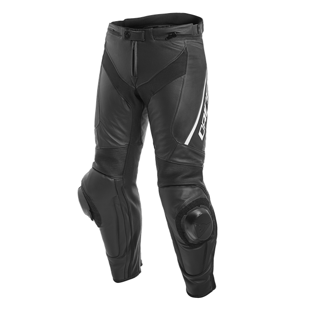 DELTA 3 SHORT/TALL LEATHER PANTS BLACK/BLACK/WHITE- Leather