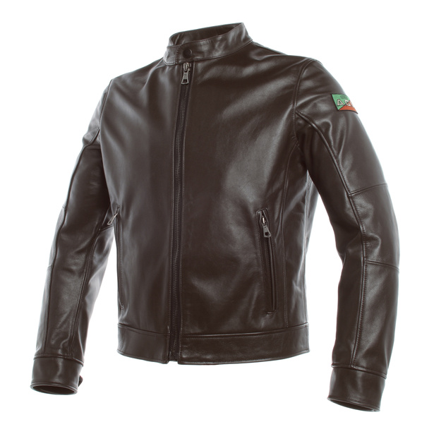 AGV 1947 LEATHER JACKET DARK-BROWN- undefined