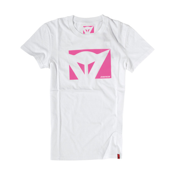 T-SHIRT COLOR NEW LADY WHITE/FUCHSIA- undefined
