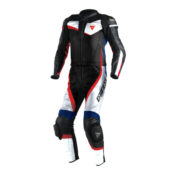 VELOSTER 2 PIECE SUIT WHITE/BLACK/SKY-BLUE