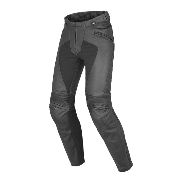 PONY C2 PERF LADY LEATHER PANT BLACK