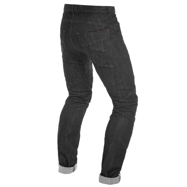 TRENTO SLIM JEANS BLACK-RINSED- Denim