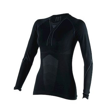 D-CORE DRY TEE LS LADY BLACK/ANTHRACITE- T-Shirt