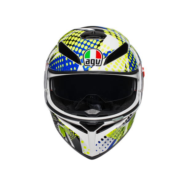 K-3 SV E2205 MULTI - POP WHITE/BLUE/LIME - Full-face