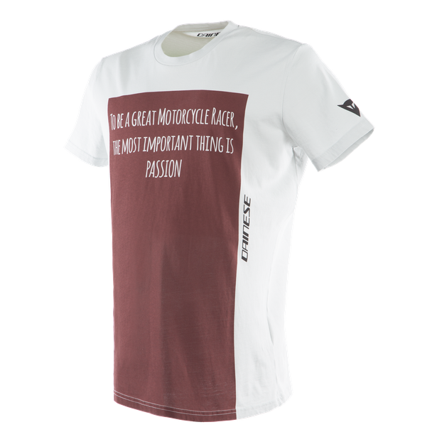 RACER-PASSION  T-SHIRT GRAY/BURGUNDY
