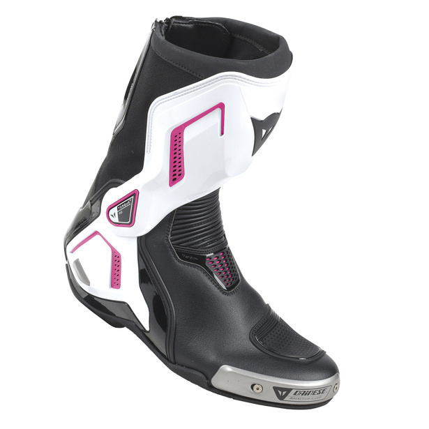 TORQUE D1 OUT LADY BOOTS BLACK/WHITE/FUCHSIA- Pelle
