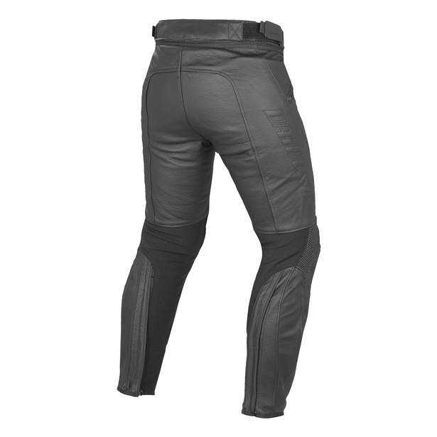 PONY C2 LEATHER PANTS BLACK- Cuir