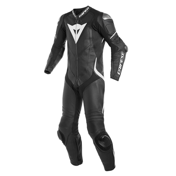 LAGUNA SECA 4 1PC S/T PERF. LEATHER SUIT BLACK/BLACK/WHITE
