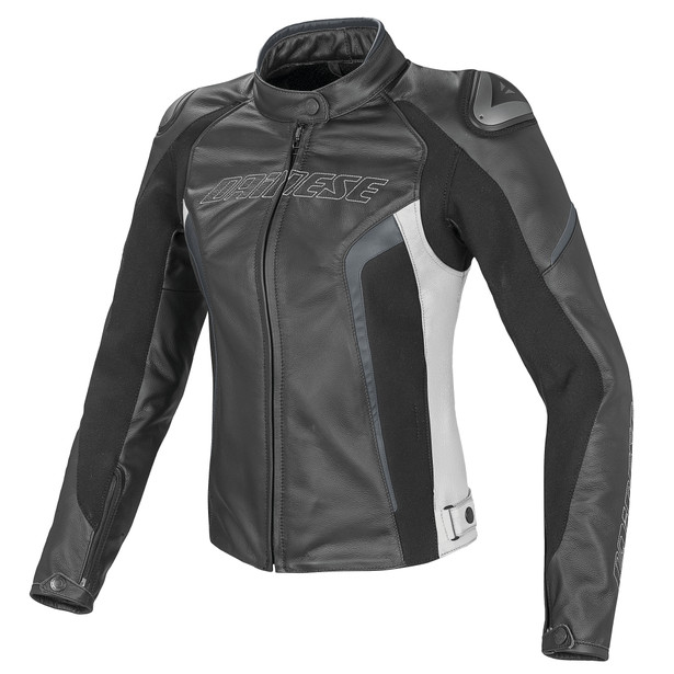 RACING D1 PELLE LADY BLACK/WHITE/ANTHRACITE