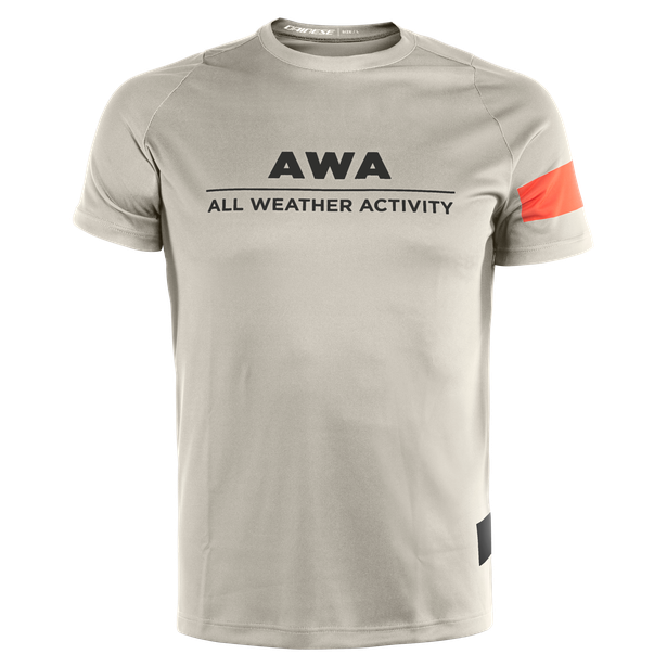 AWA TEE 1 CHERRY-TOMATO/SILVER-BIRCH/WHITE- Shirts