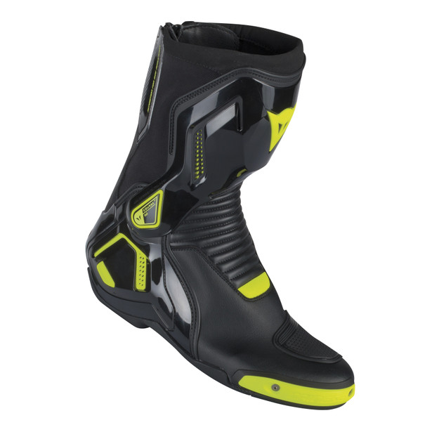 COURSE D1 OUT BOOTS BLACK/YELLOW-FLUO