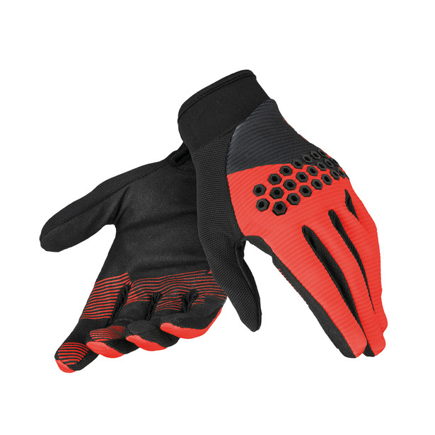 ROCK SOLID-D GLOVES BLACK/RED/BLACK