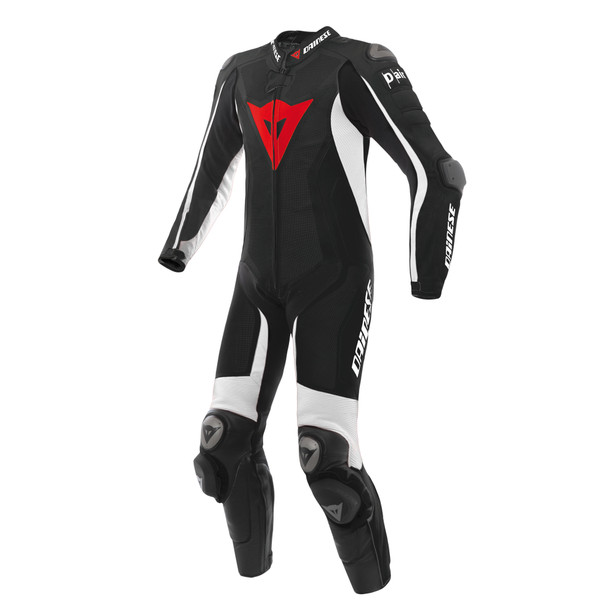 Misano D-air® Perforated suit BLACK/BLACK/WHITE- Motorbike