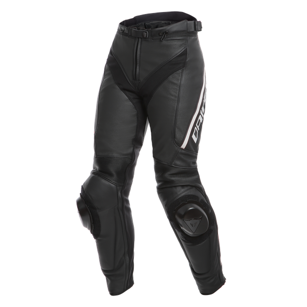 DELTA 3 PERF. LADY LEATHER PANTS BLACK/BLACK/WHITE